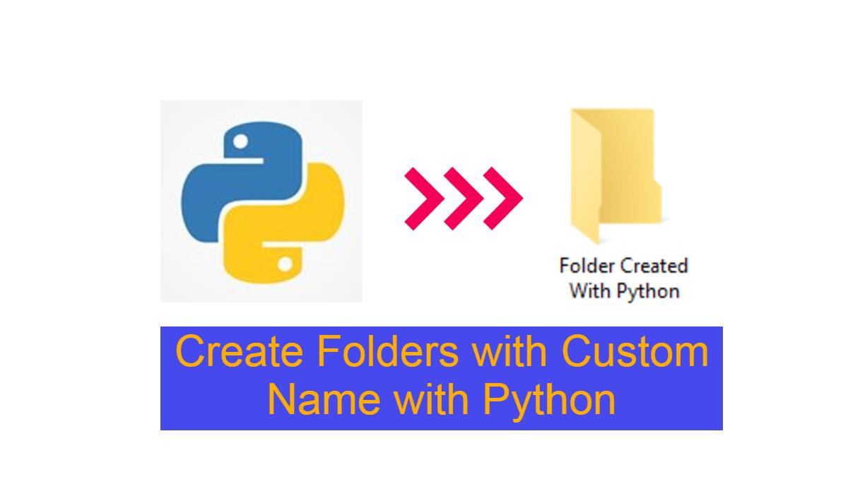 Custom-Folder-name-with-python