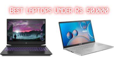 Best Laptops Under Rs. 50,000