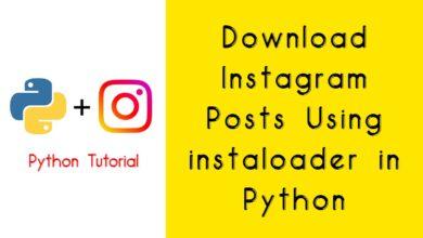 Download Instagram Posts Using instaloader in Python