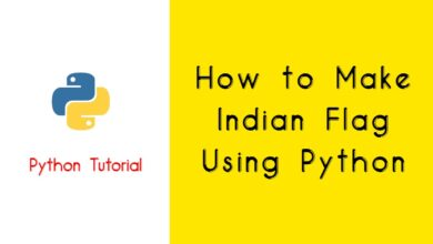 How to Make Indian Flag Using Python