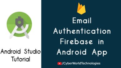 Email Authentication Firebase in Android App