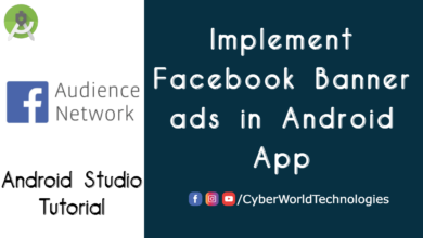 Implement Facebook Banner ads in Android App